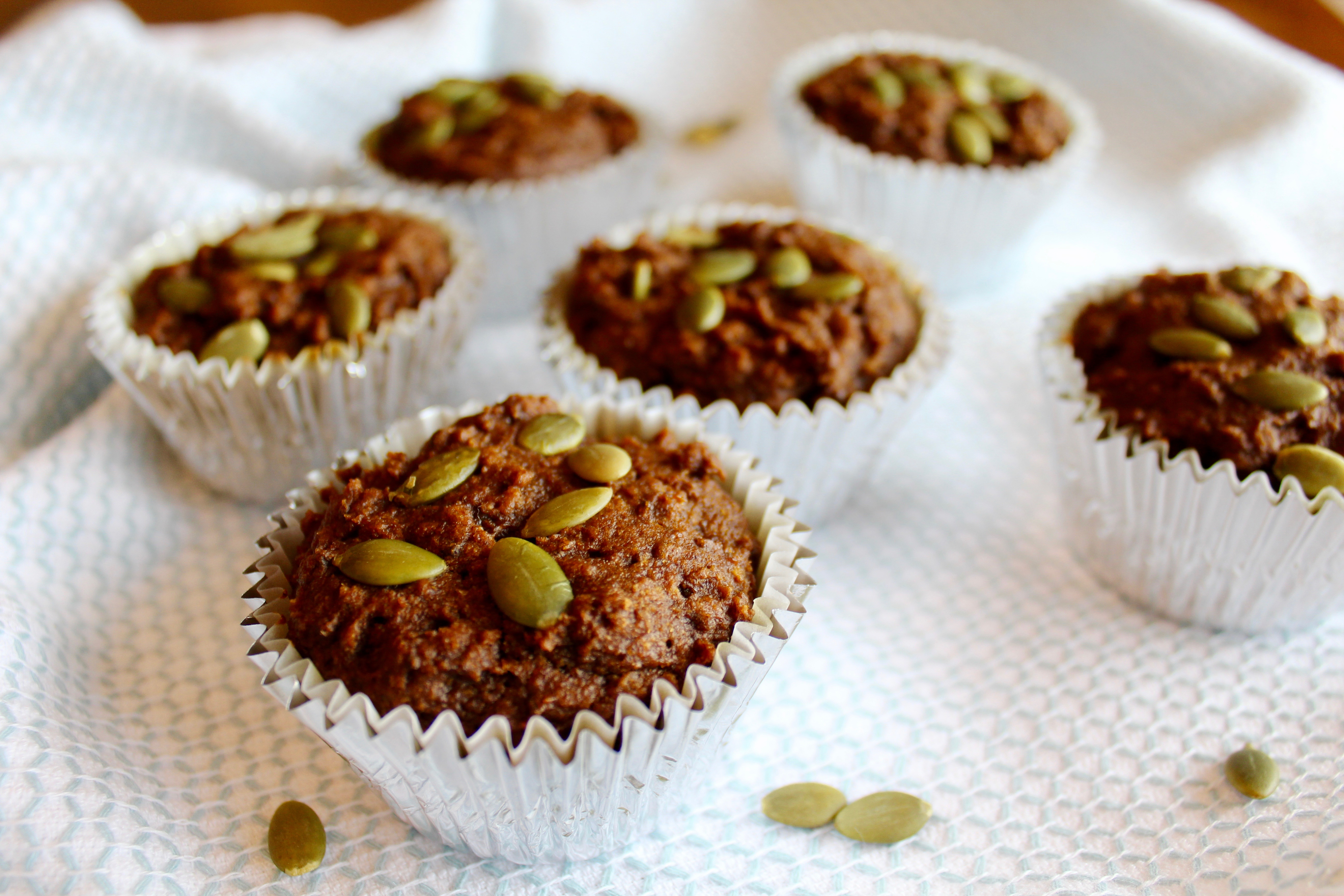 Pumpkin Gingerbread Muffins | Nuts About Greens
