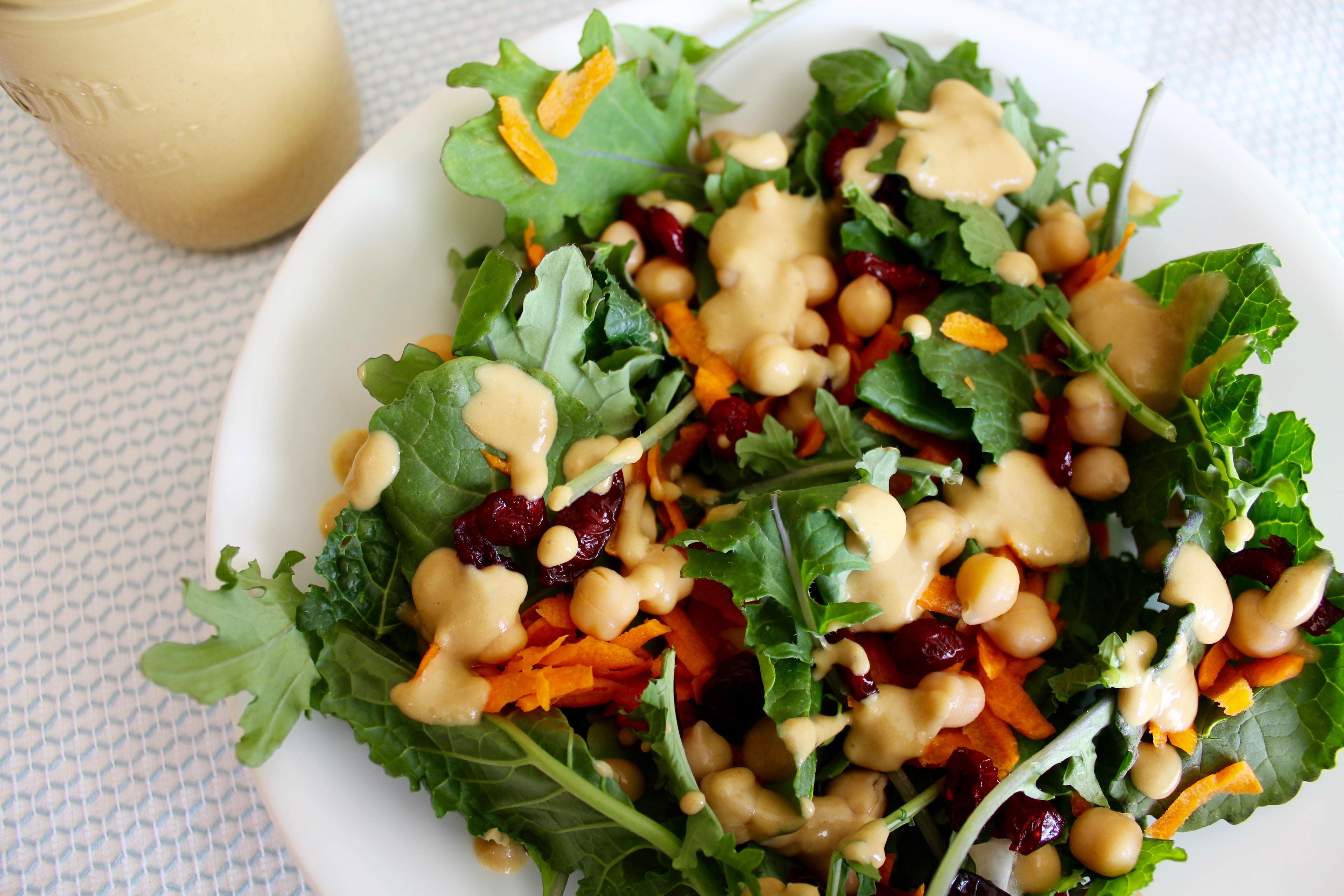 Kale Salad with Maple-Mustard Dressing | Nuts About Greens