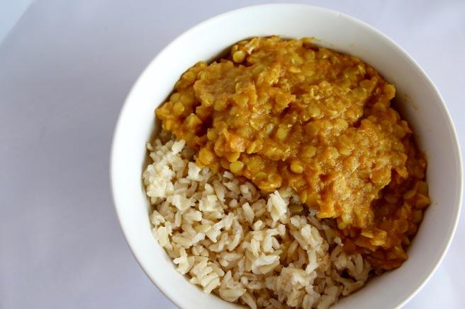Oil Free Spicy Garlic Indian Dal