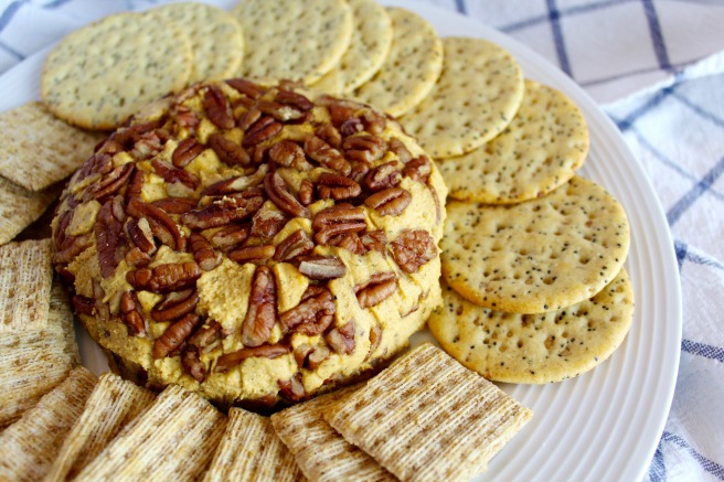 Smoked Paprika Cheddar Vegan Cheese Ball