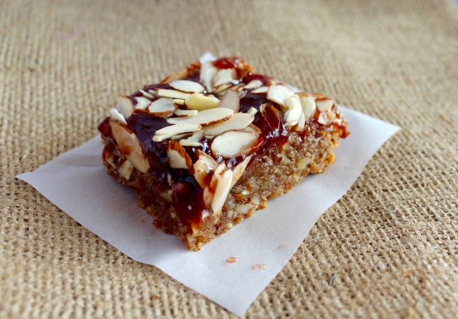 Gluten-free Vegan Strawberry Almond Bars