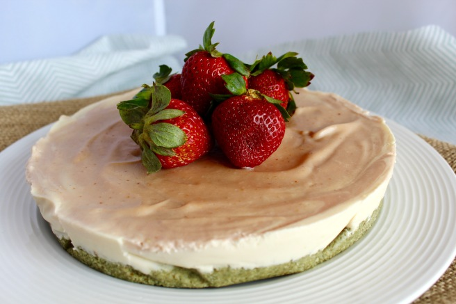 Strawberry Coconut Cauliflower Ice Cream Cake