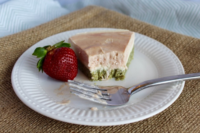 Strawberry Coconut Cauliflower Ice Cream Cake
