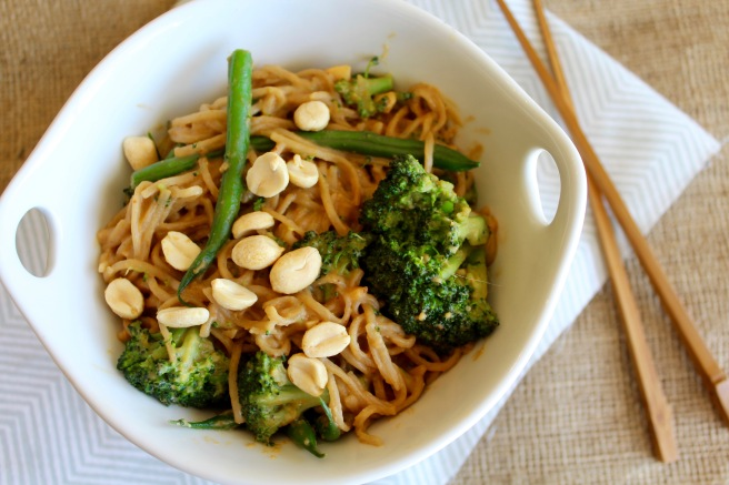 Broccoli Peanut Soba Noodles