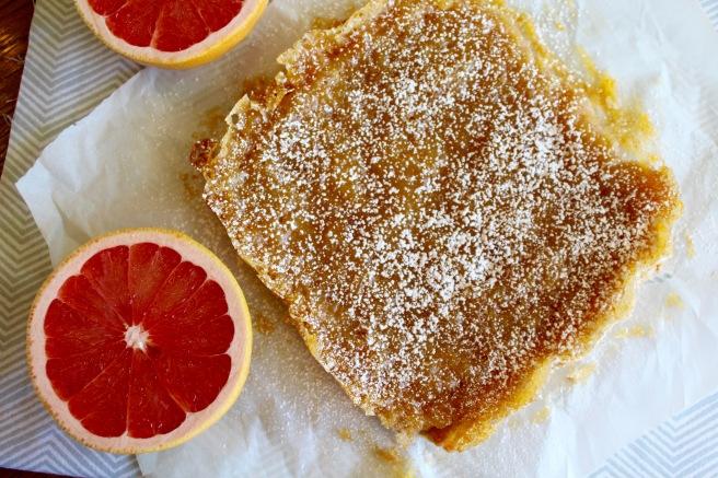 Vegan Grapefruit Bars with Shortbread Crust