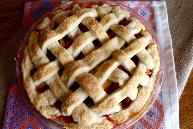 Vegan Strawberry Peach Pie