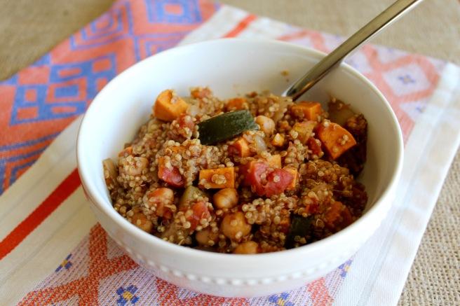 One Pot Tandoori Spiced Quinoa and Veggies