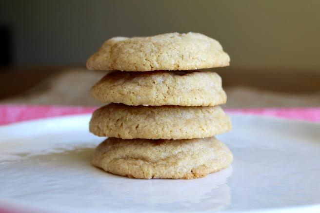 Vegan Lemon Crinkle Cookies