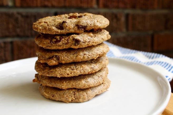 Flourless Almond Butter Oatmeal Chocolate Chip Cookies