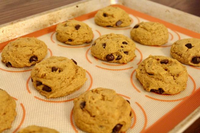 Soft Vegan Pumpkin Chocolate Chip Cookies