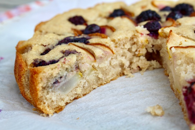 Easy Berry Pear Cake