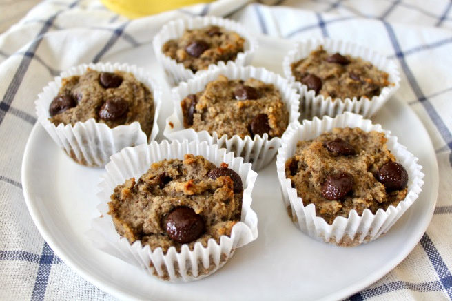 Flax Almond Flour Banana Muffins