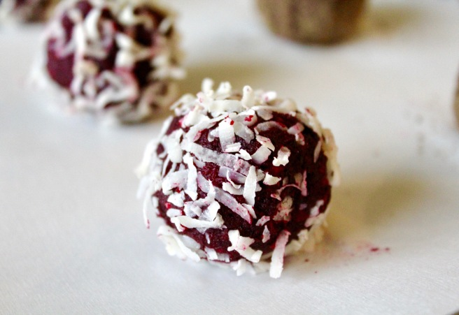 Almond Beet Coconut Energy Balls