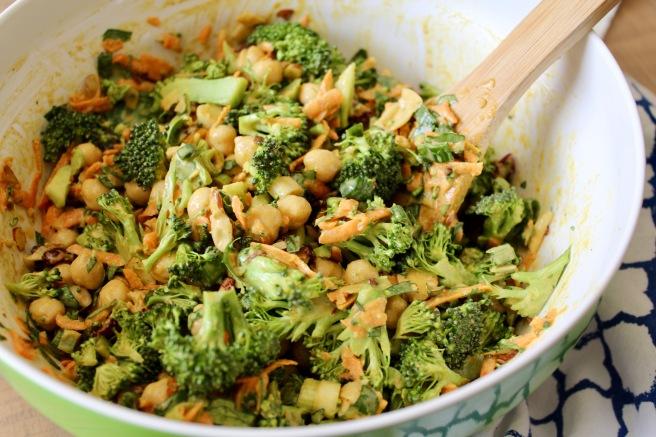 Vegan Curried Broccoli Chickpea Salad