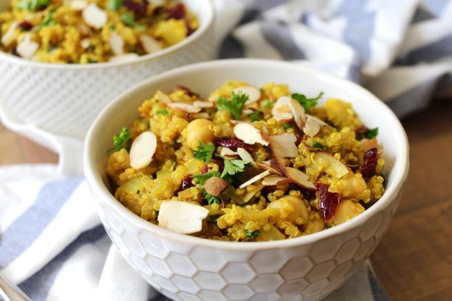 One Pot Moroccan Chickpea Quinoa Salad